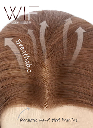 Light Auburn Wavy Lace Front Synthetic Wig LW085E - Wig Is Fashion