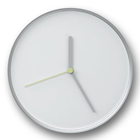 Thin Wall Clock in White