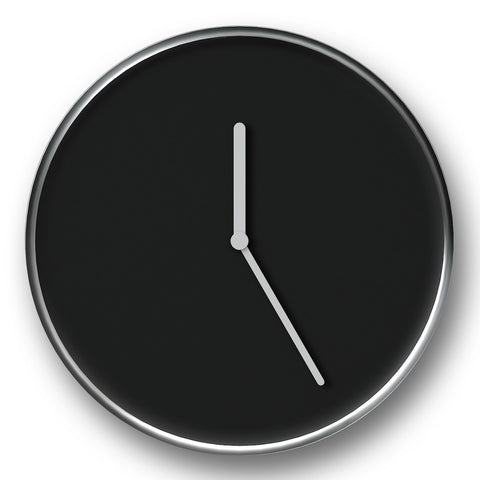 Thin Wall Clock in Black