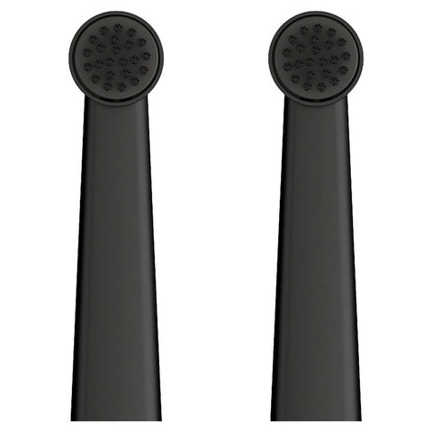 Wall Street Collection Toothbrush Heads in Black (2pk)