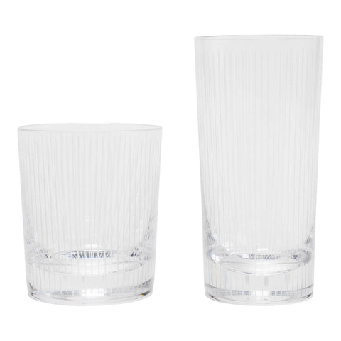 Ray Glass Highball & Tumbler Set