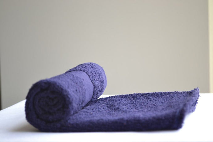 Navy Blue Bleach Proof Hand Salon Towels 16x27