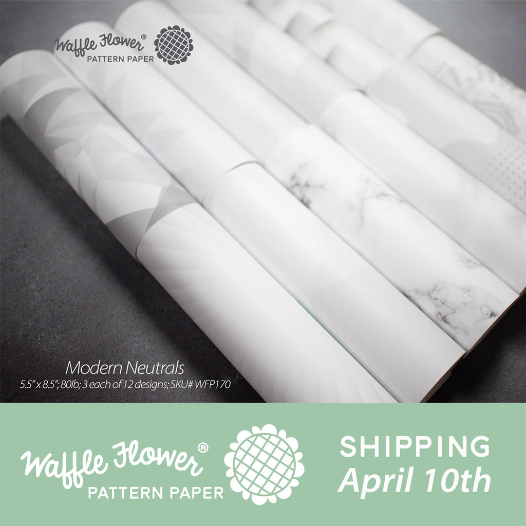 Waffle Flower Everyday Pattern Paper Release - Modern Neutrals
