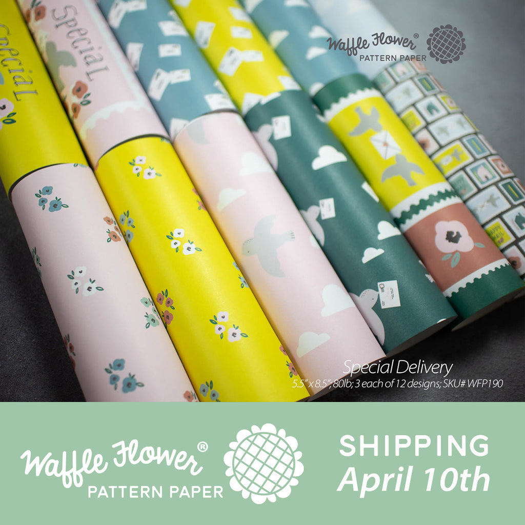 Waffle Flower Everyday Pattern Paper Release - Special Delivery