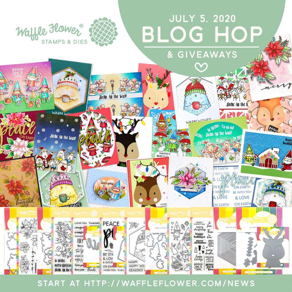 Waffle Flower Christmas in July Blog Hop & Giveaways