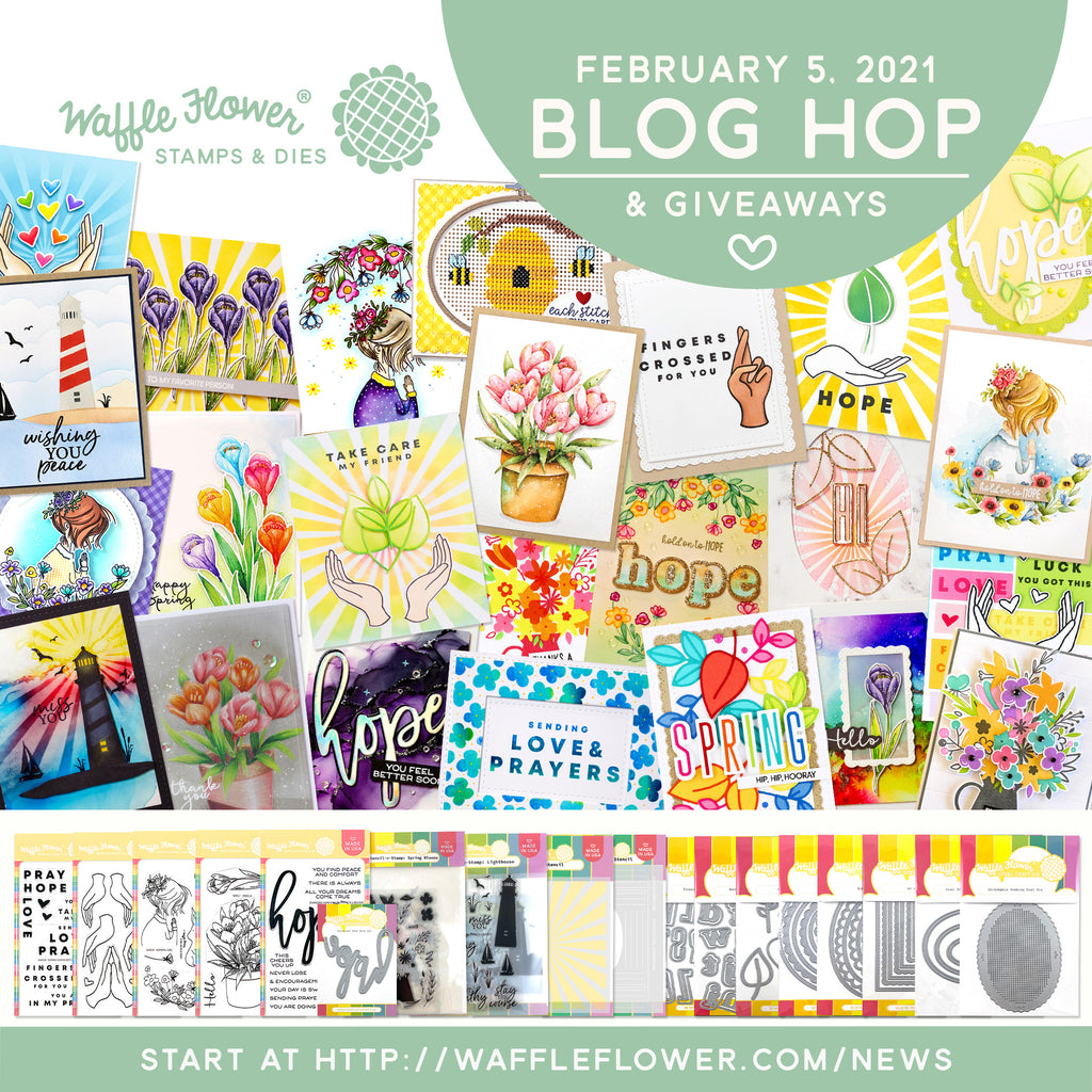 Waffle Flower February 2021 Release Blog Hop & Giveaways