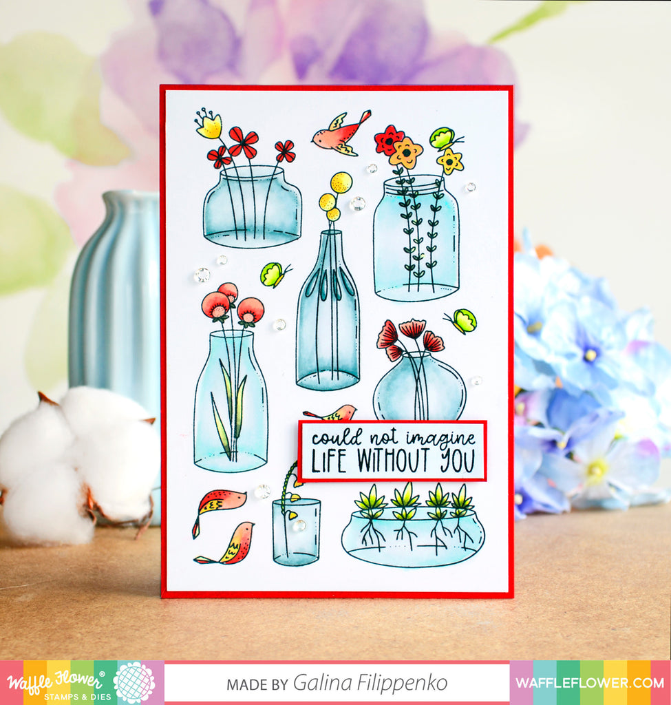 Jars of Happiness - Stamp Them ALL with Galina
