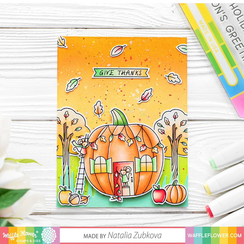 October Release Intro Day 2 - Pumpkin House & Caprice Paper Pads
