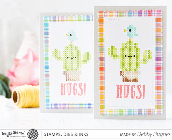 [WIW Video] Stitched Cacti Hugs by Debby Hughes