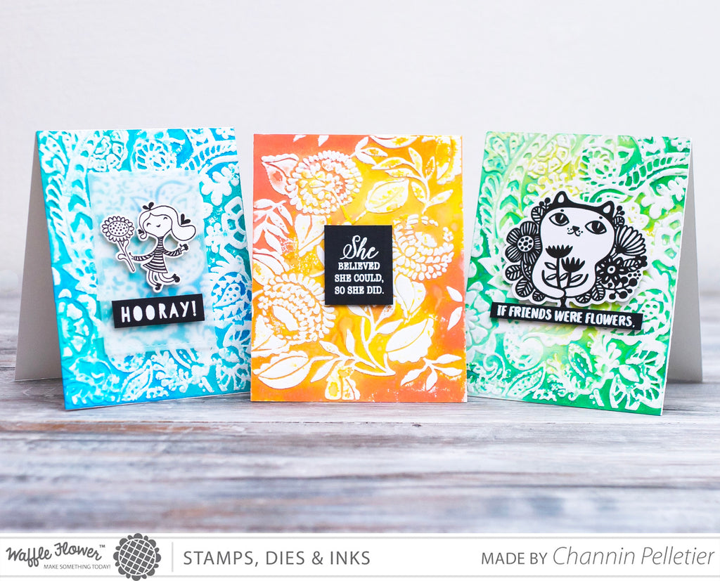 [Technique] Distress Oxides and Embossing Folders by Channin