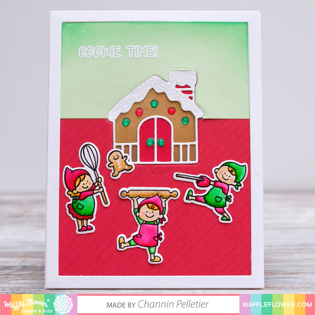 Build a Gingerbread House Card with Xyron Sticker Machines by Channin