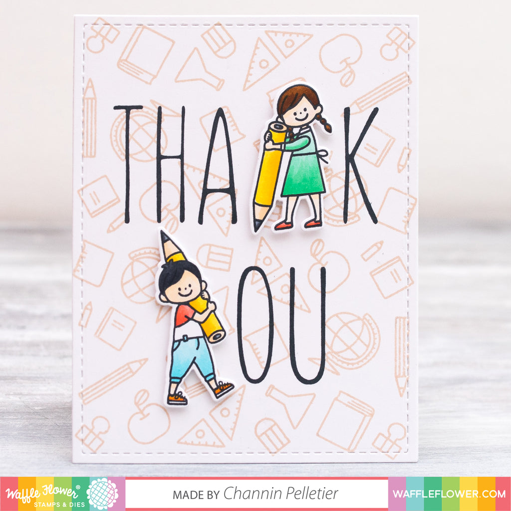 [Technique] Letter Substitution, Teacher Thank You Cards by Channin