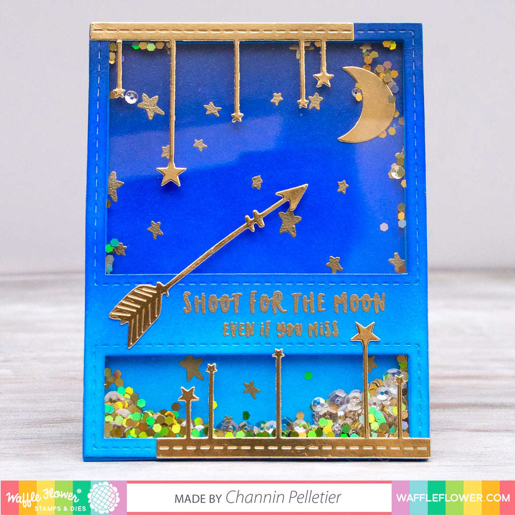 Moon & Stars Shaker Card by Channin