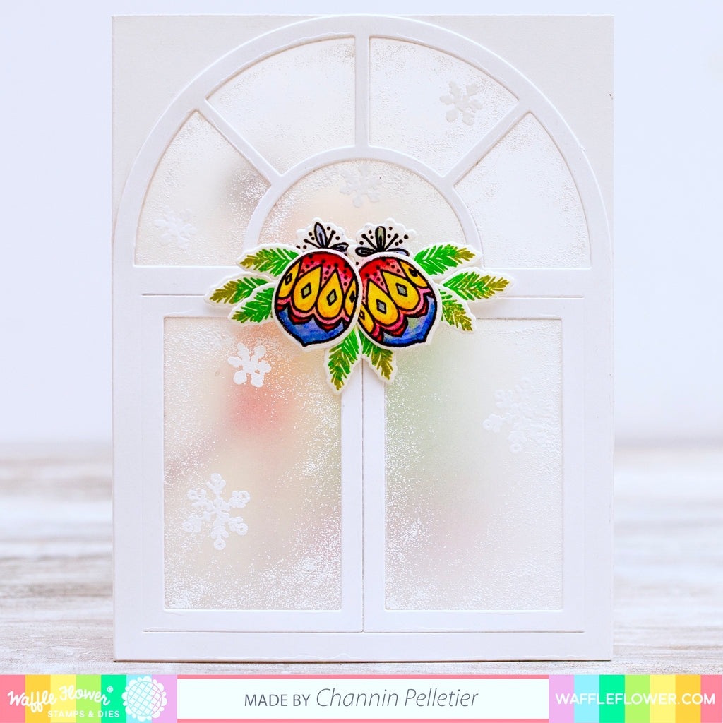 Frosted Window with Deck the Halls by Channin