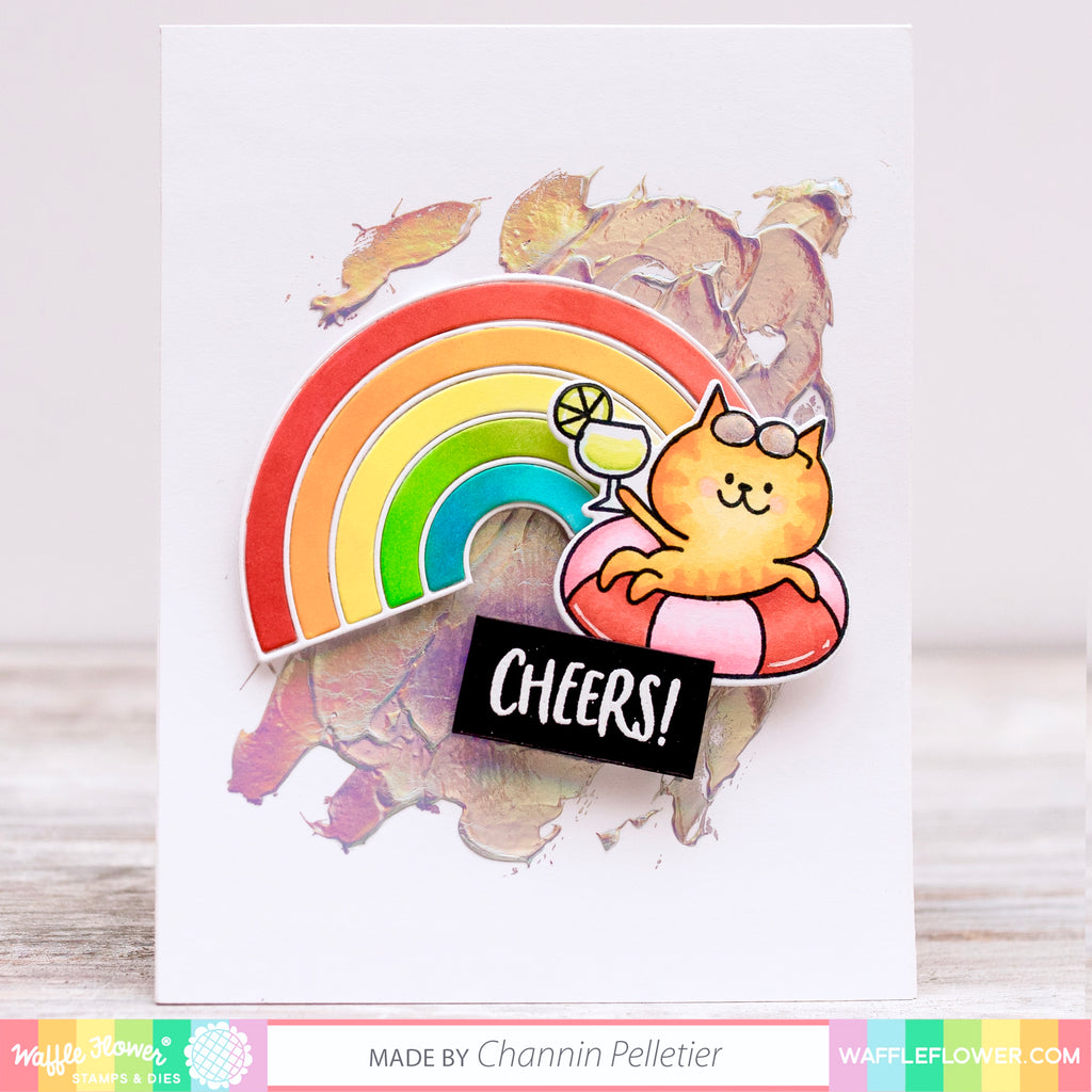 Rainbow Iridescent Cheers Card by Channin