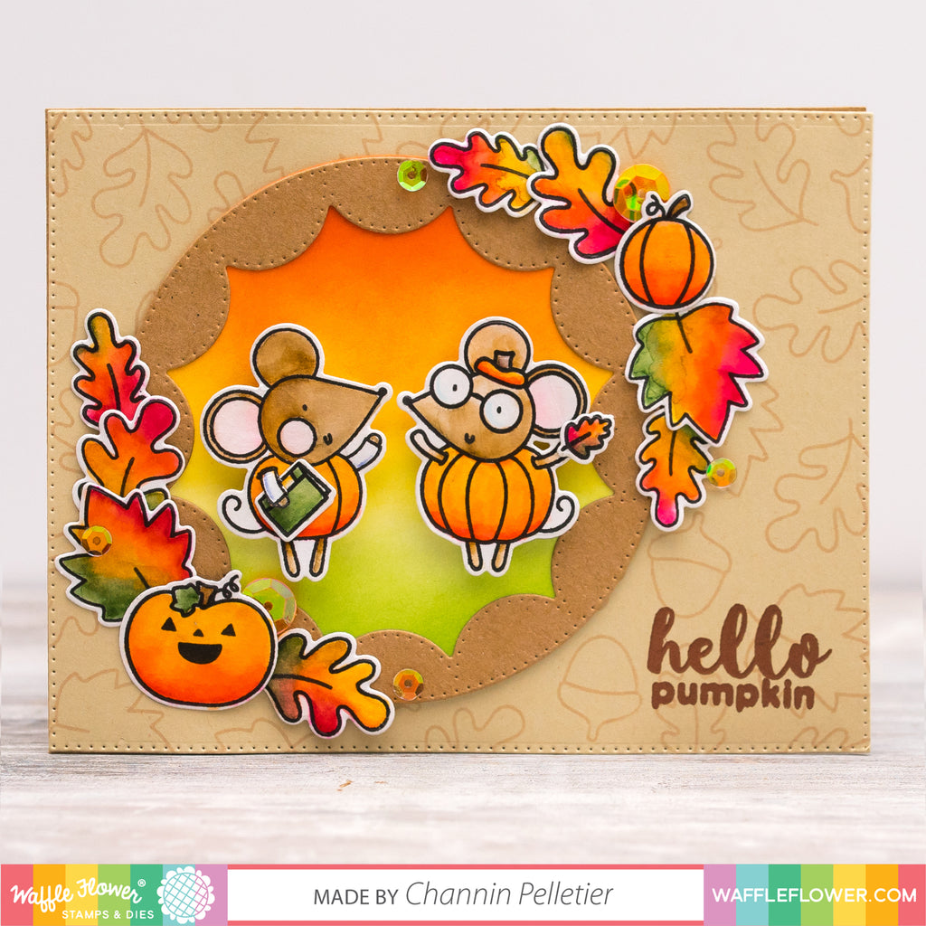 Hello Pumpkin with Tombow Dual Brush Pens by Channin