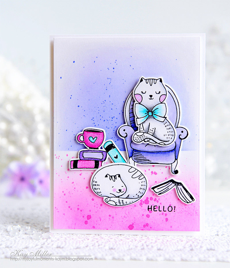 [Guest] Hello Stampurr with Distressed Background by Kay Miller