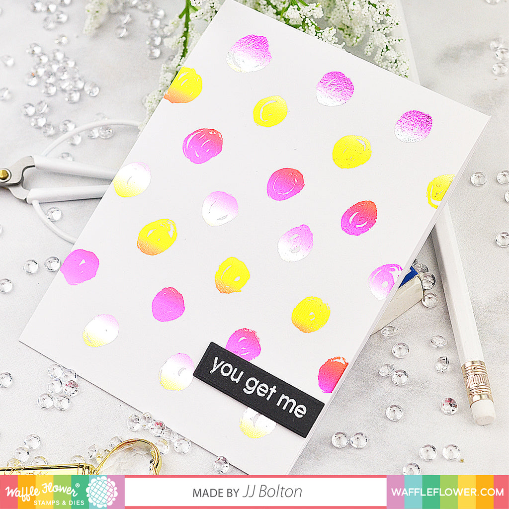 Waffle Flower & Therm O Web Team Swap - Foiled Dots + Giveaway!
