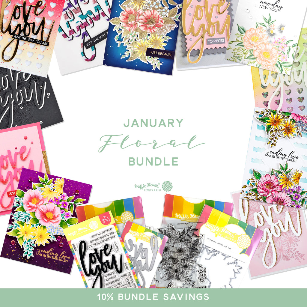 First Peek at the January 2020 Floral Bundle -- Available January 5th!