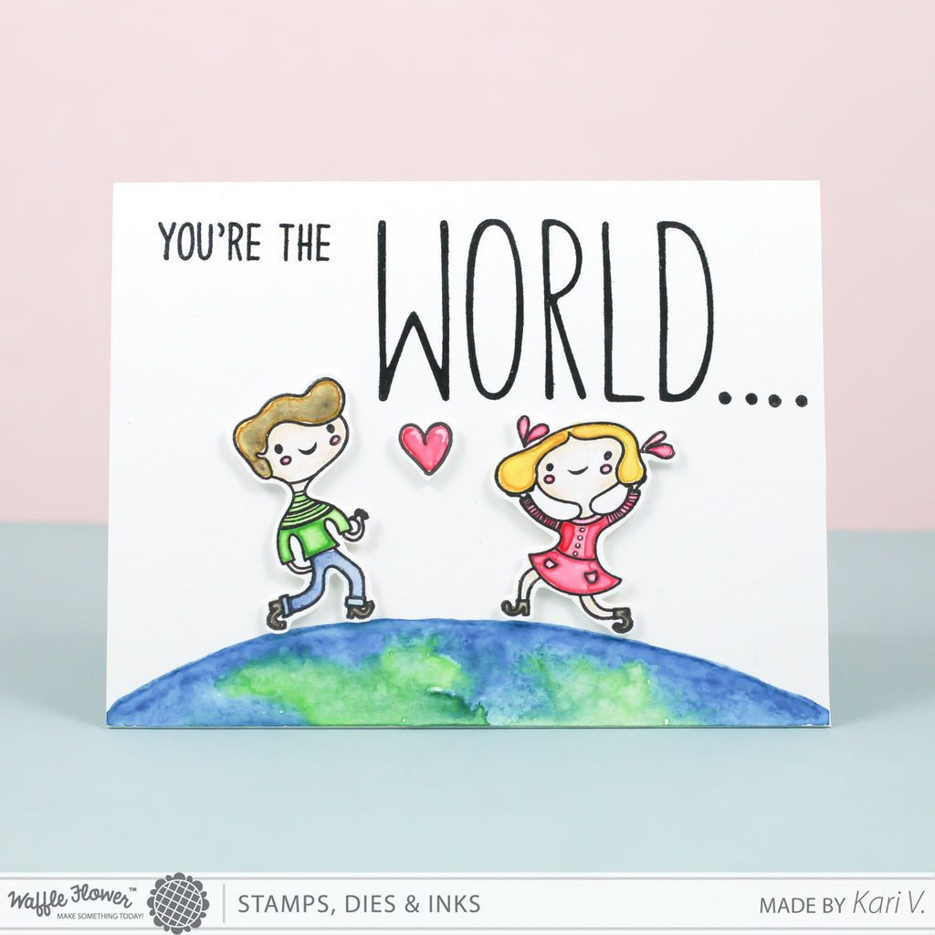 [WIW] You're the World Watercolor Card by Kari