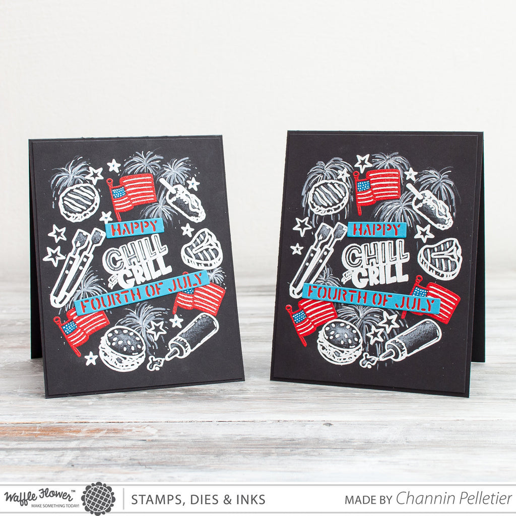[TT Video] 4th of July Chalkboard Art Card by Channin