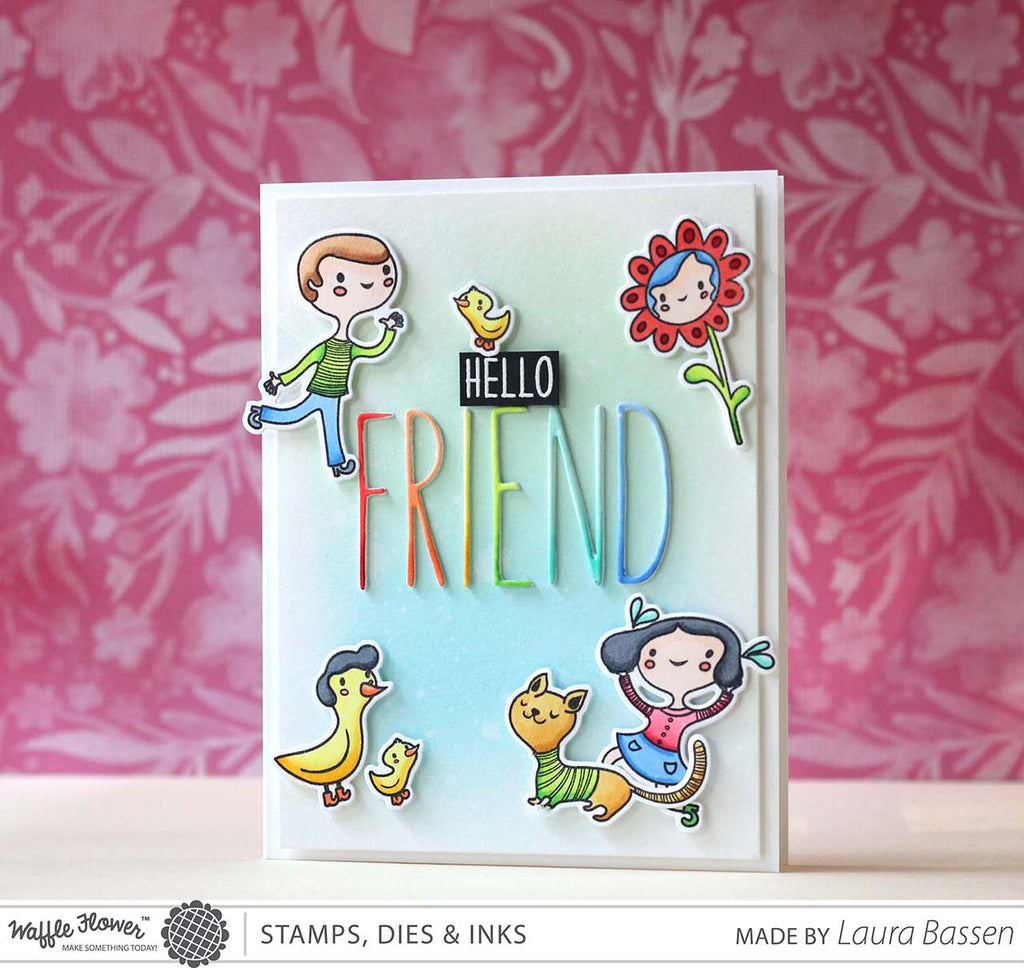 [WIW] Hello Friend Card by Laura Bassen