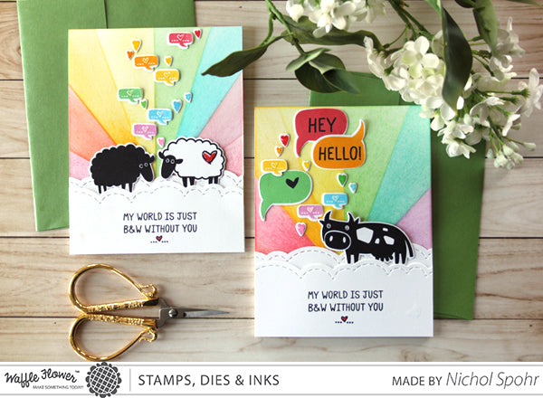 [In the Details] Monochrome Rainbow Cards by Nichol Spohr