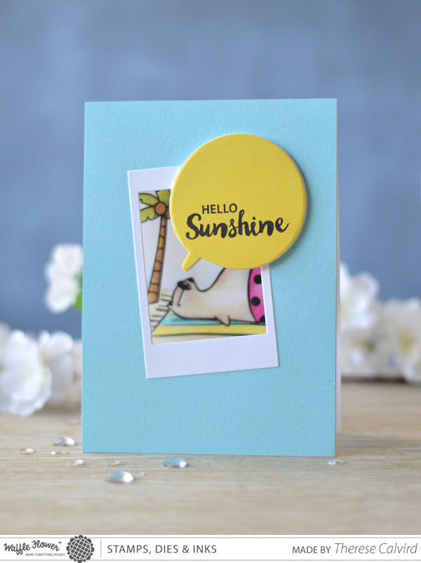 [Interactive] Fun Friday - Sunbaking Bear Card by Therese