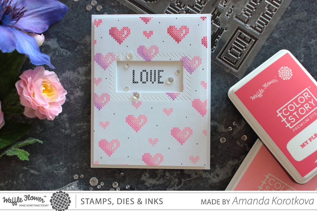 [Fun Friday] Ombre Background with Small Stamps by Amanda