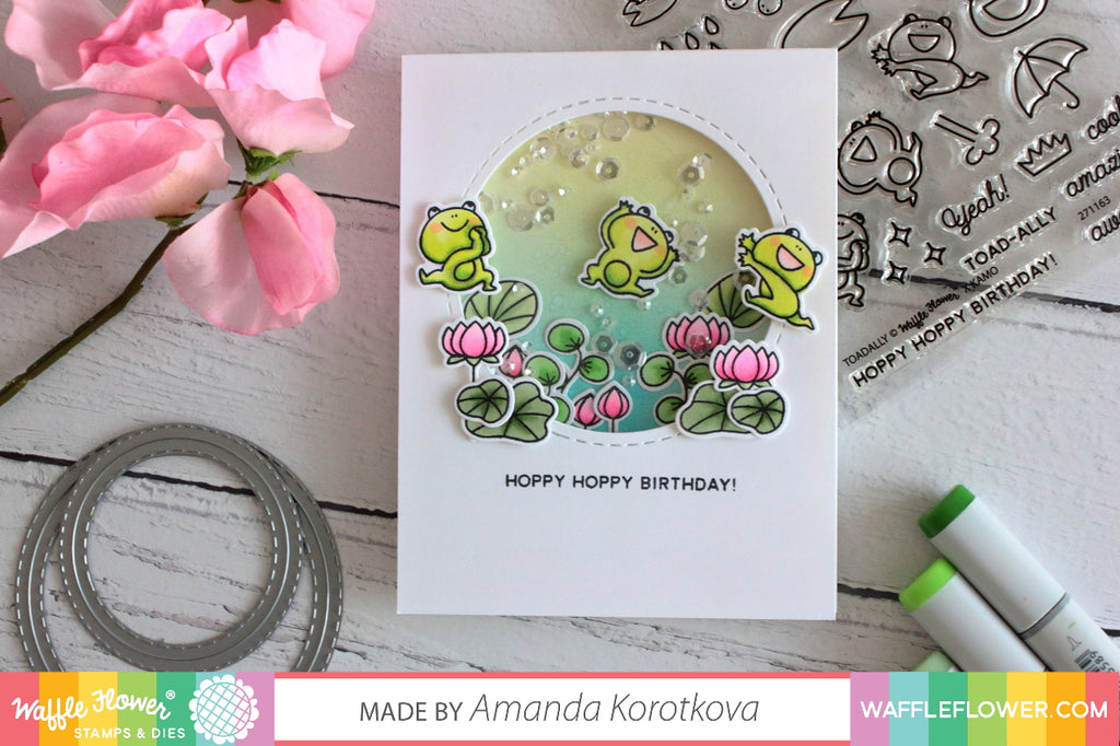 [Fun Friday] Shaker Card with Suspended Element by Amanda