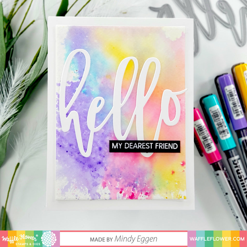 Ideas for Oversized Hello Stamp Set by Mindy Eggen