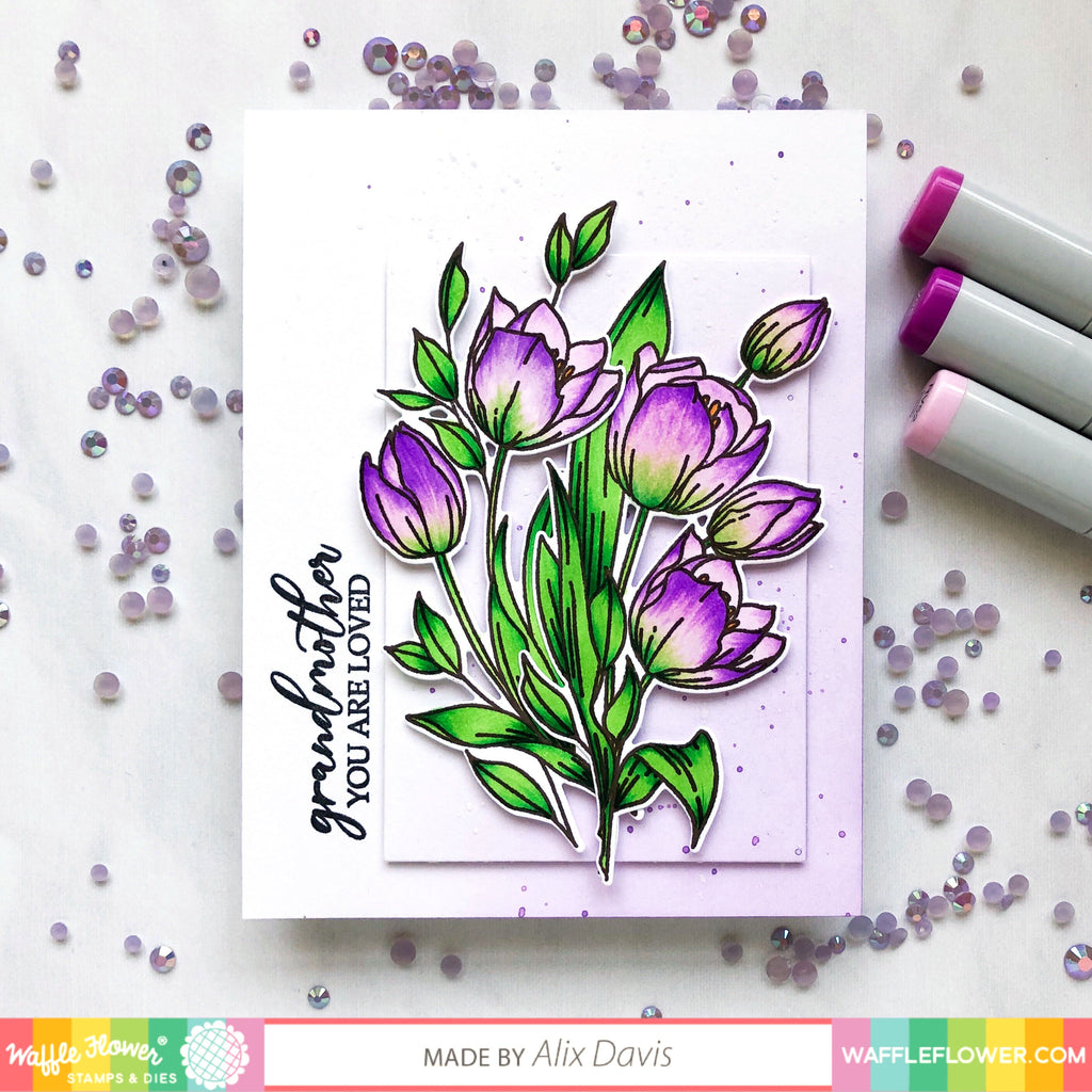 Ideas for Tulips Stamp Set by Alix Davis