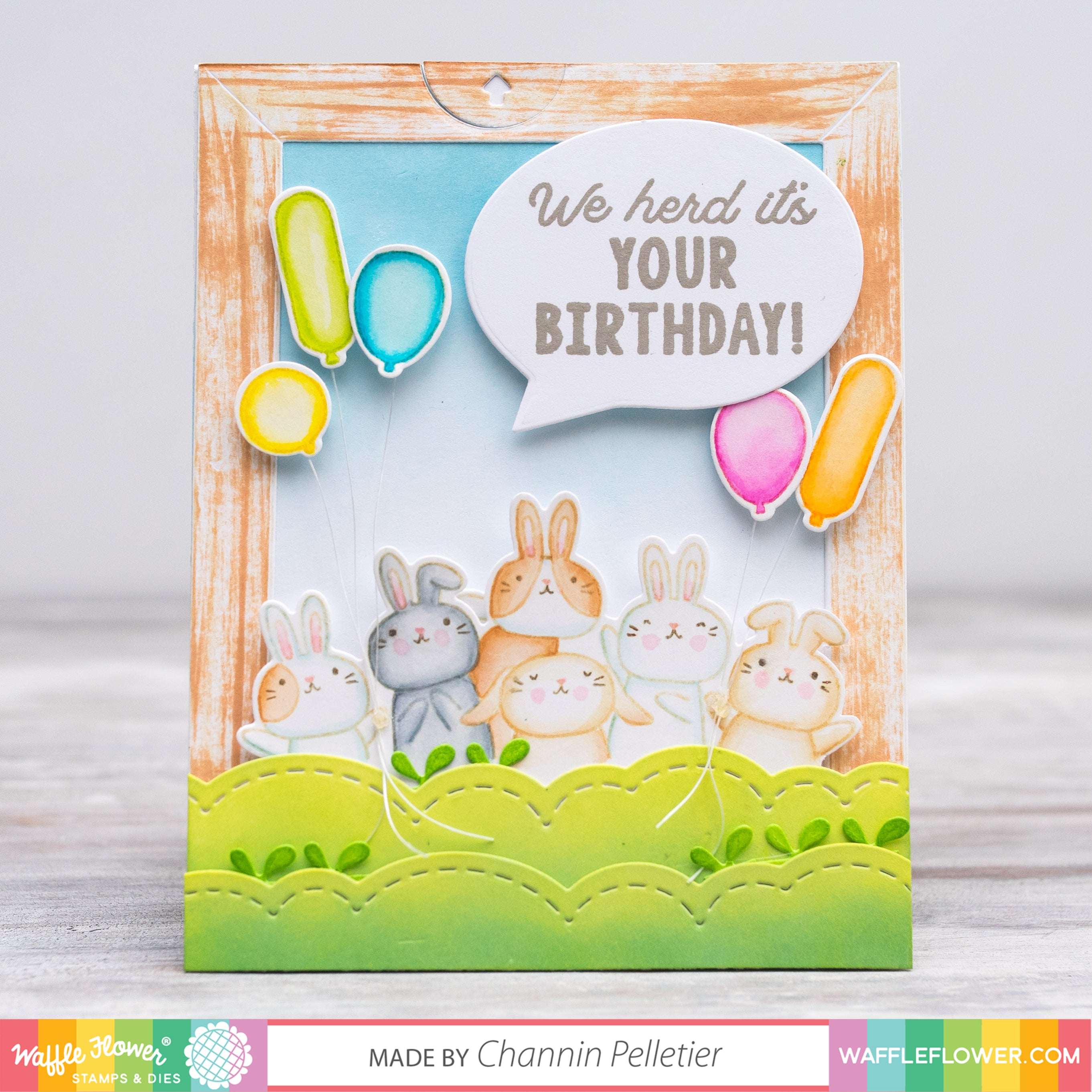 Special Birthday Card with Pull-out String Pennants