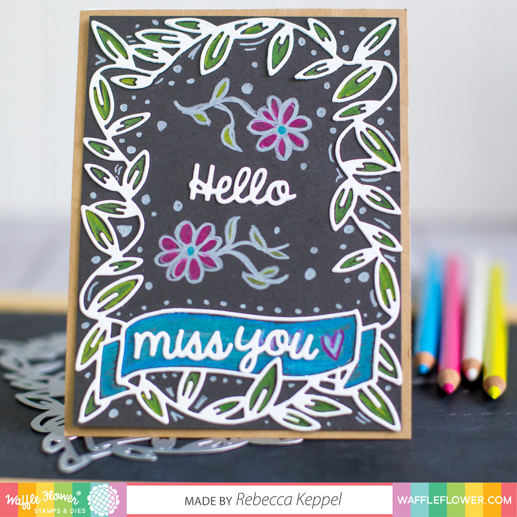 Faux Chalkboard Card with Rebecca