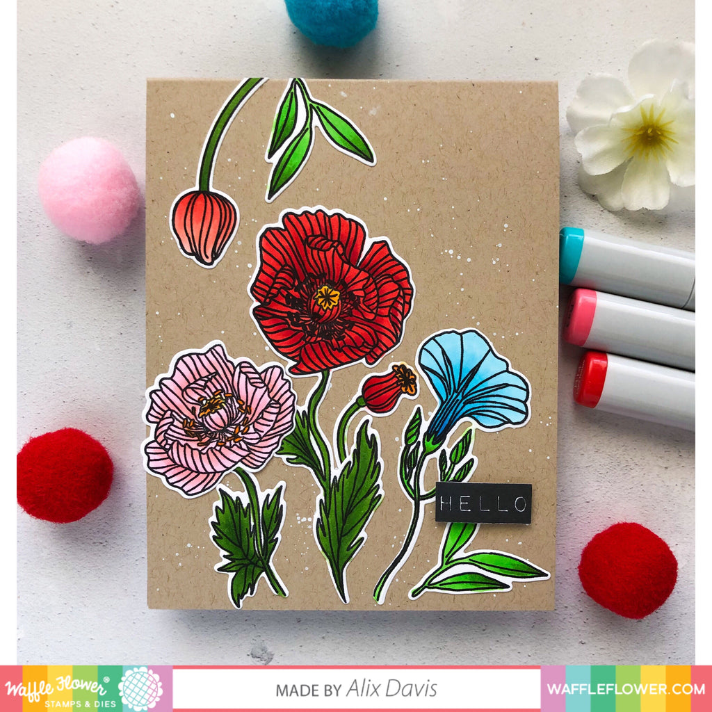 Bright Colors on Kraft with Alix