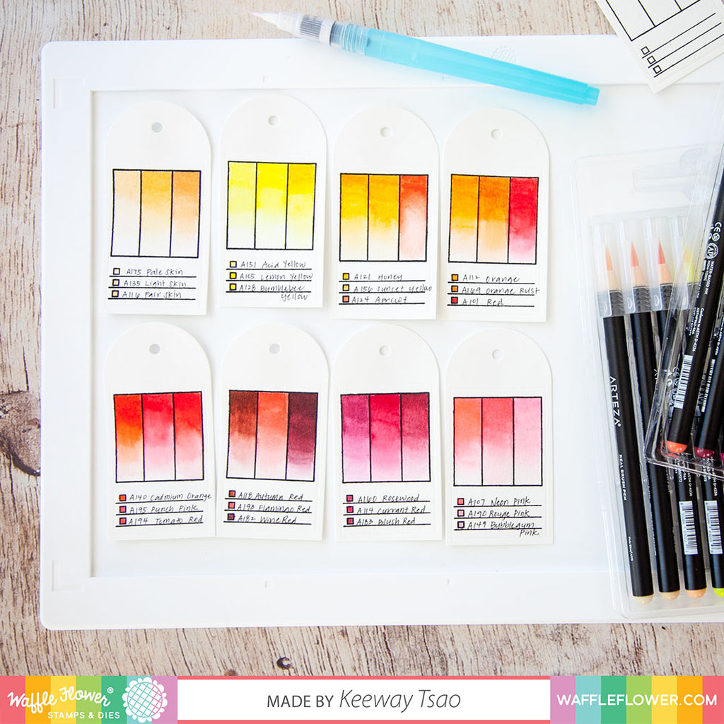 Swatch Out Your Watercolor Pens with Keeway