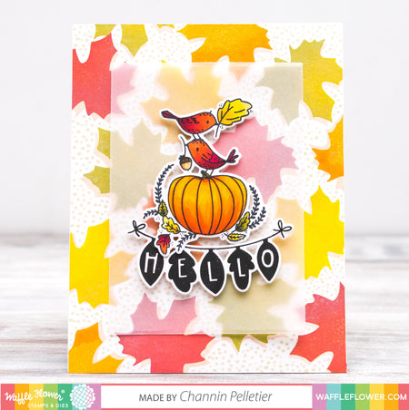 Start To Finish: Fall Background feat. Fall Greetings and Happy Thanksgiving Stamp sets