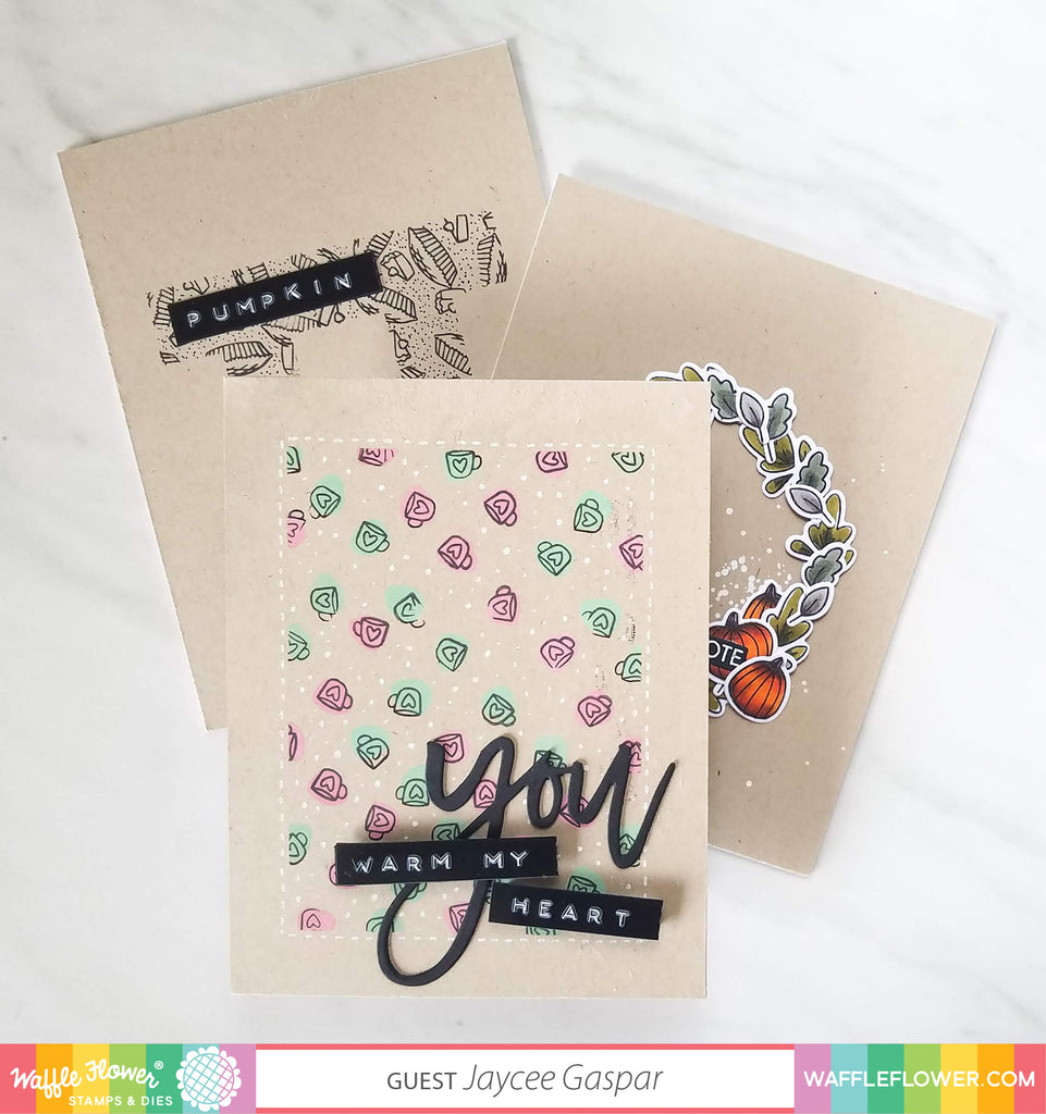 Creative Ideas with Small Stamps by Jaycee Gaspar feat. Happy Fall Stamp Set