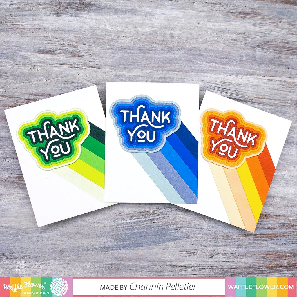 Start To Finish: Ombre Thank You Cards feat. Rainbow Thank You Die