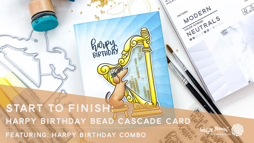 Start to Finish: Harpy Birthday Bead Cascade Card feat. Harpy Birthday Combo