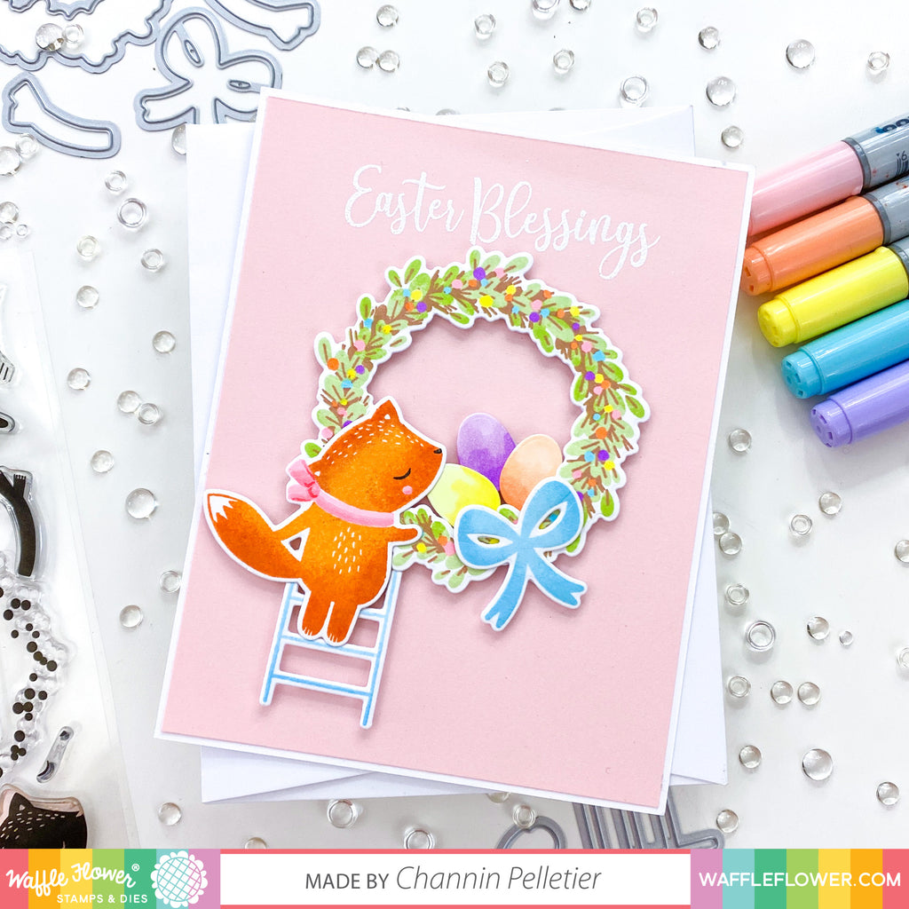 Start to Finish: A Spring Merry Wreath Card by Channin
