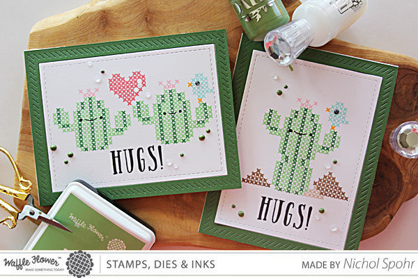 [Video] In the Details - Cacti Hugs Cards by Nichol Spohr