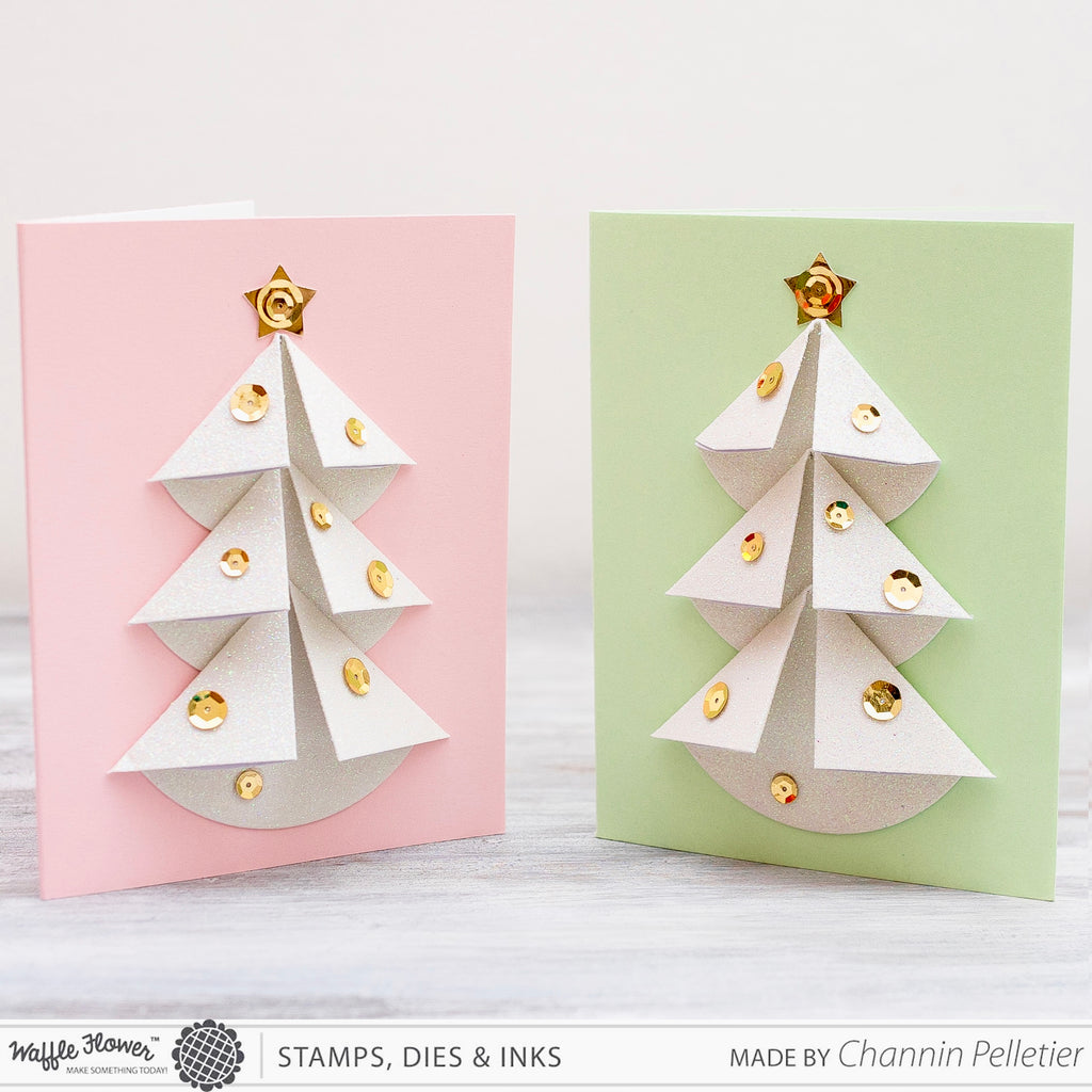 [Technique] Folded Dimensional Christmas Trees by Channin