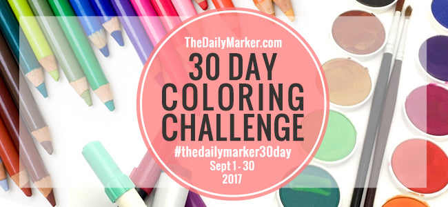 [Blog Hop] The Daily Marker 30 Day Coloring Challenge - September, 2017