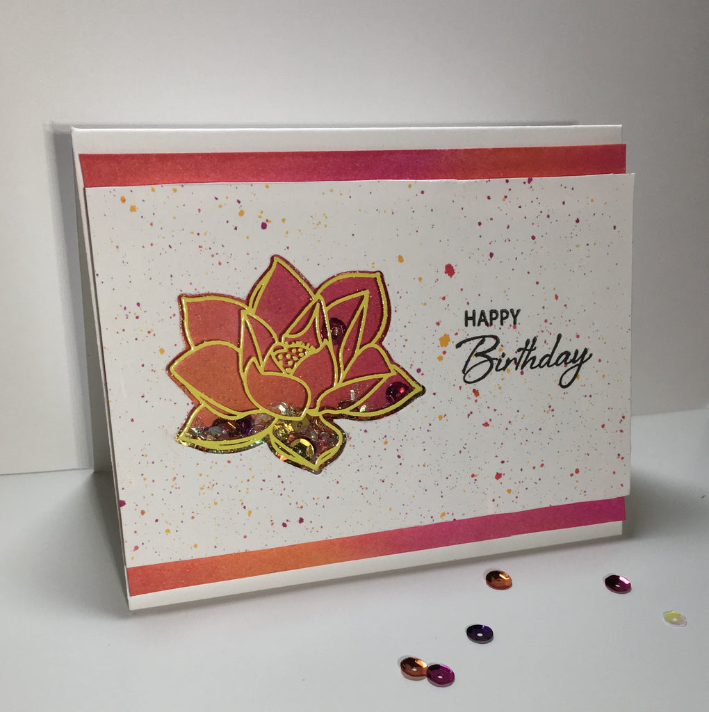 [Guest & Giveaway] Lotus Shaker Card by Julie Faherty