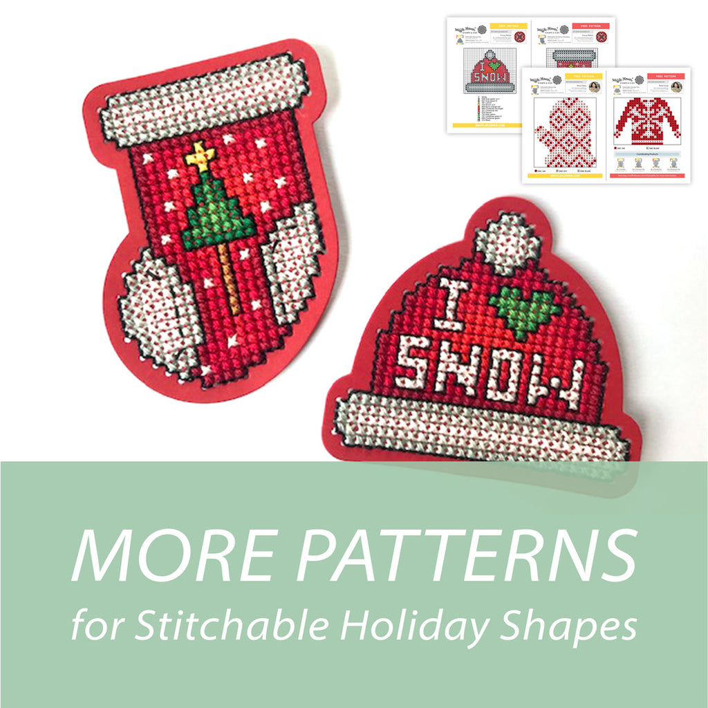 More Patterns for Stitchable Holiday Shapes
