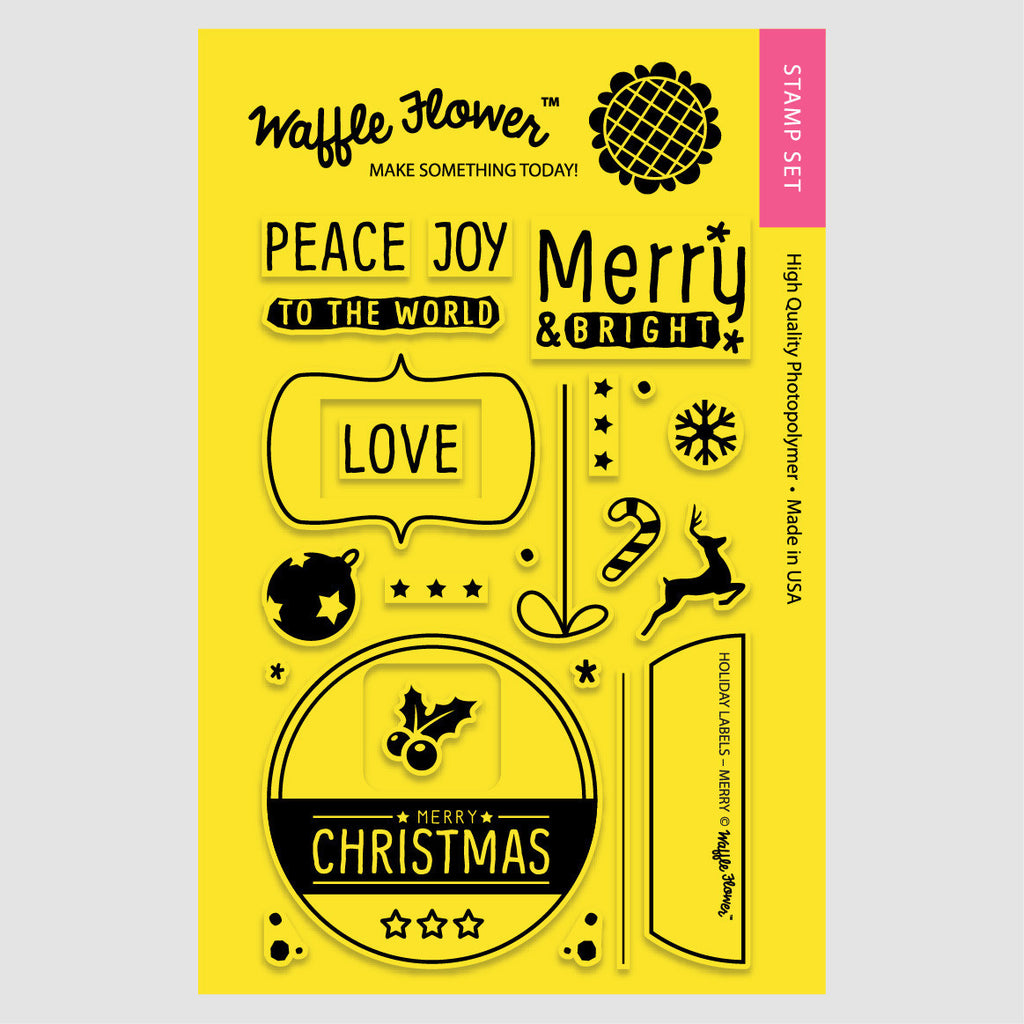 Holiday Labels - Merry Stamp Set