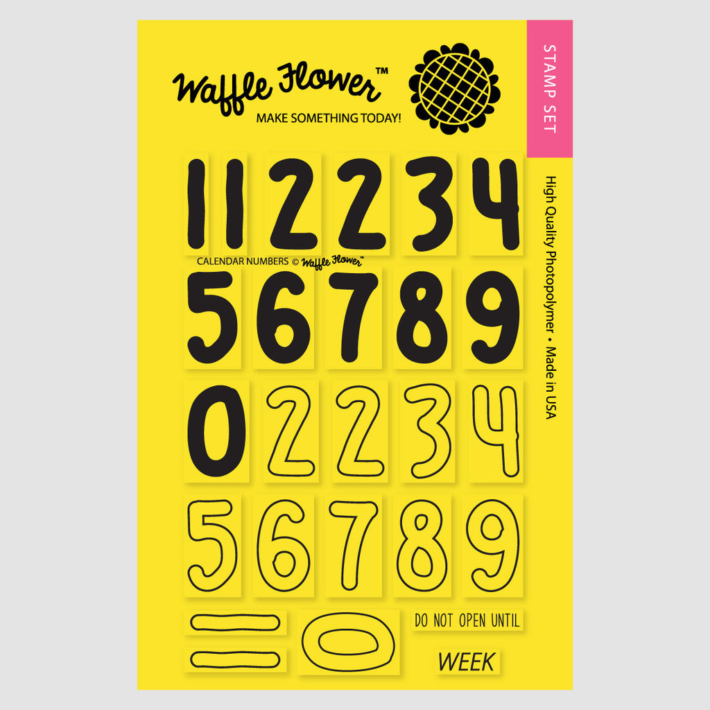 Calendar Numbers Stamp Set