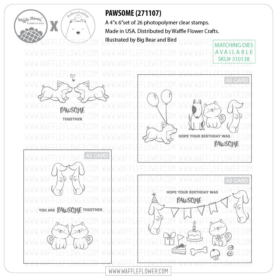 Pawsome Stamp Set