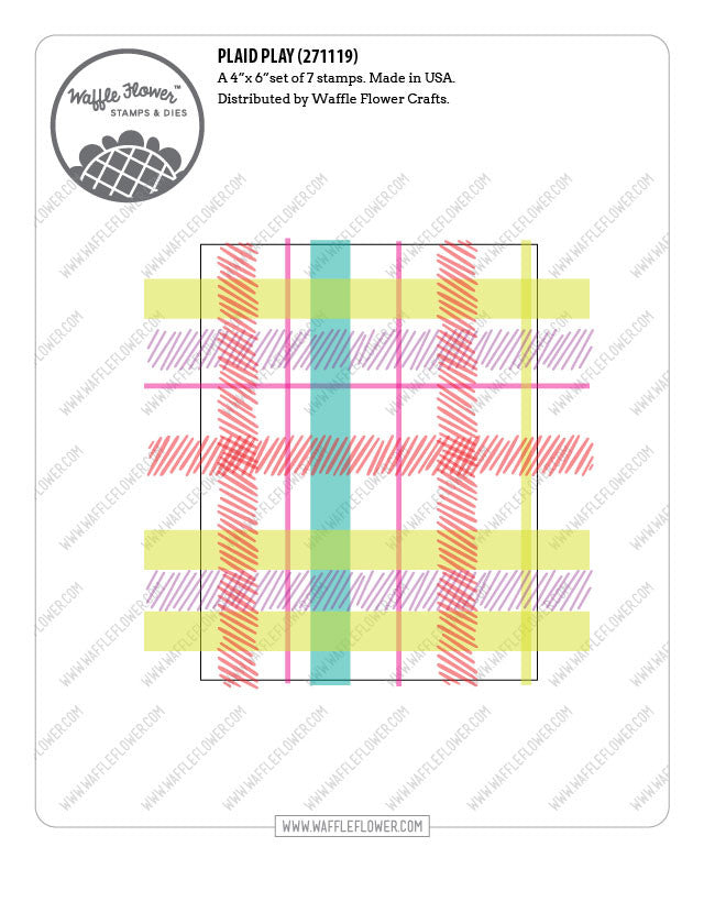 Plaid Play Stamp Set